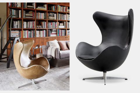 <h2><strong>Q:</strong> What chair would be good for reading? <strong>A:</strong> Arne Jacobsen's Egg chair</h2>