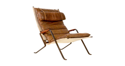 Jørgen Kastholm and Preben Fabricius Grasshopper lounge chair, 1968, offered by Vintage Home