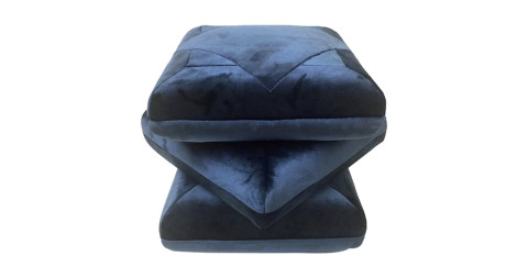 Cabana velvet pouf, in collaboration with Dedar