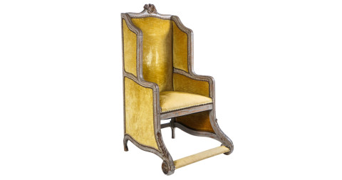 French Louis XV–style bergère, ca. 1890, offered by Acroterion