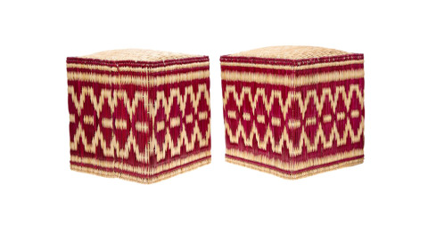 Pair of Moroccan wicker stools