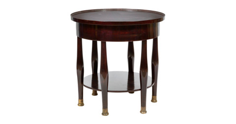 Adolf Loos circular table, 1908, offered by Woka Gallery