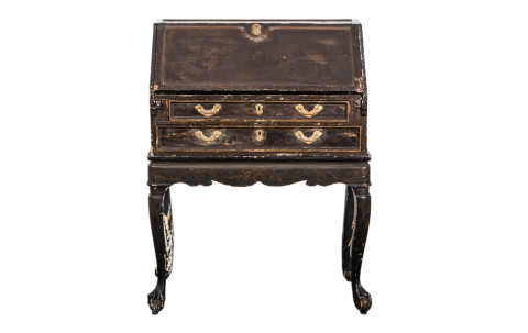 Rococo Gilded Chinoiserie Secretary, ca. 1750, offered by Laserow Antiques