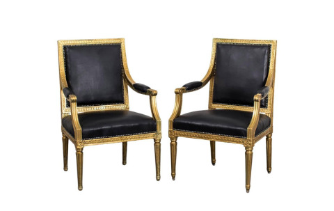Pair of Gustavian Armchairs, ca. 1790, offered by Laserow Antiques