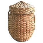 Woven-wood basket, 20th century