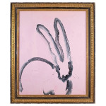 Zach's Pink Bunny, 2015, by Hunt Slonem