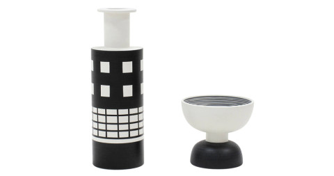 Ettore Sottsass glazed ceramics, 1986, offered by Hildebrandt Studio