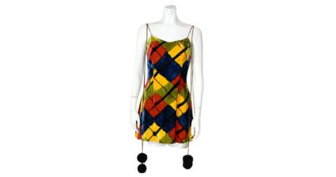 Argyle velvet minidress, offered by the Way We Wore