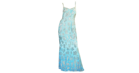 Beaded and hand-painted runway gown, offered by Shrimpton Couture