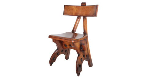 Edward Welby Pugin Granville walnut chair, ca. 1870, offered by Historical Design