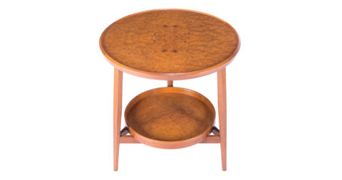 Edward Wormley for Dunbar table with removable tray, 1960s, offered by Adam Edelsberg