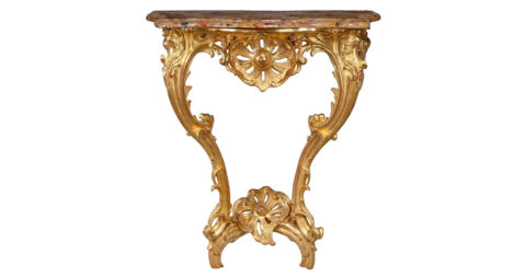 Louis XV giltwood console table, ca. 1750