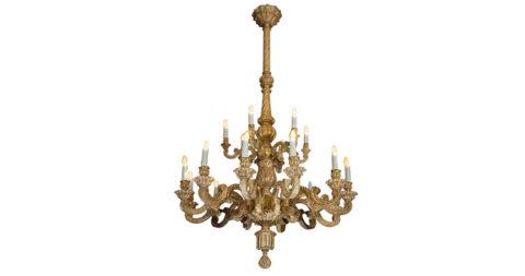 Giltwood chandelier,  1890–1900