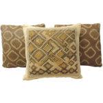 African raffia pillows, 1950s