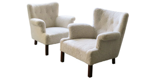 Orla Mølgaard-Nielsen lounge chairs, 1937, offered by Vance