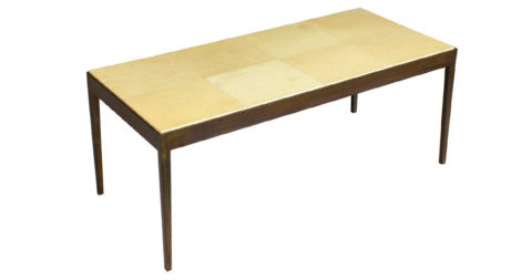 Parchment-topped coffee table, late 20th century, offered by Townhouse by Robert Brown