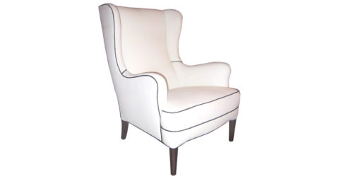 Frits Henningsen wingback chair, 1940s, offered by Arenskjold Antiques Art