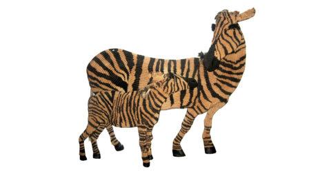 Macramé zebras, 20th century, offered by Ceylon et Cie