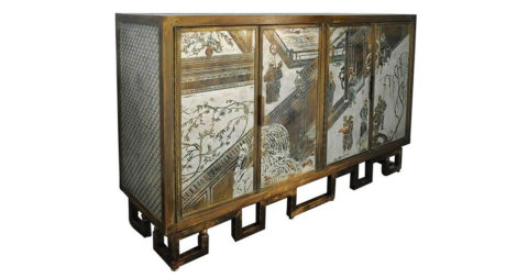 Philip and Kelvin LaVerne four-door cabinet, 1970s, offered by Fat Chance