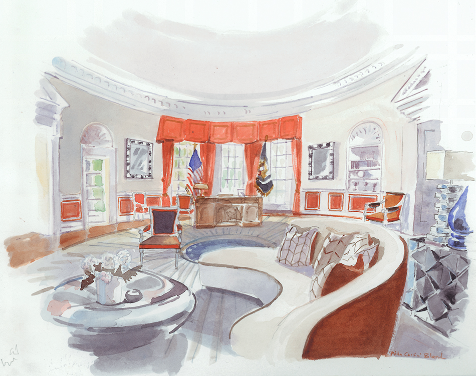 White House Interiors For Clinton