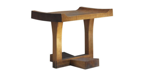 Studio Craft cherrywood bench, 1950, offered by Bloomberry