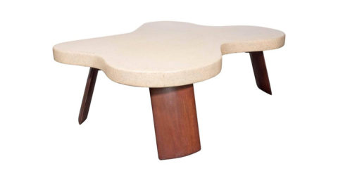 Paul Frankl Amoeba cork-top table, ca. 1950, offered by High Style Deco