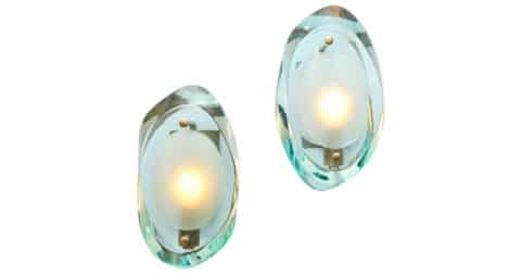 Max Ingrand for Fontana Arte Sconces, Model #2093, offered by Donzella