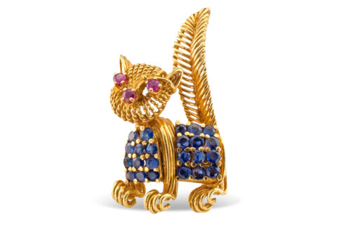Tiffany & Co. cat brooch, 1960s, offered by Jacob's
