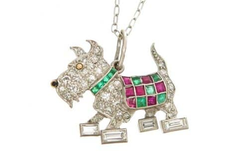 Terrier pendant, 1930s, offered by N. Green & Sons Inc.