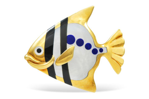 Tiffany & Co. angelfish brooch, 1970s, offered by Alice Kwartler