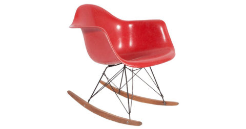 Charles Eames RAR rocking armchair, 1950s, offered by Collage