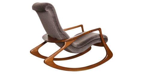 Vladimir Kagan Contour rocking chair, ca. 1975, offered by Donzella
