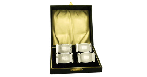Art Deco–style George V napkin rings, offered by AC Silver