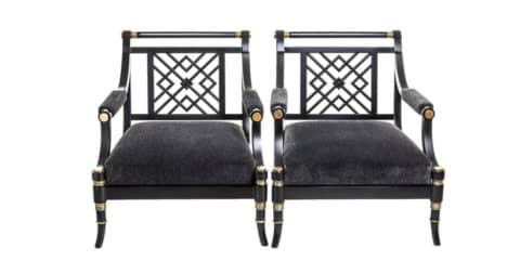 Maison Jansen armchairs, ca. 1960, offered by I.D.E.A.s