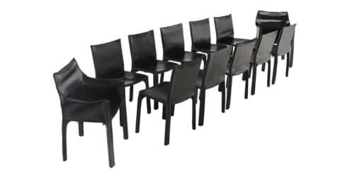 Mario Bellini Cab chairs, 1960s, offered by Hayes Gallery