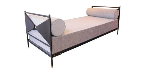 Jacques Adnet daybed, 1950s, offered by Elisa Goldmann