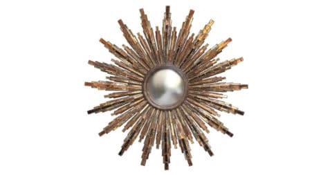 Line Vautrin Roi Soleil mirror, ca. 1965, offered by Maison Gerard