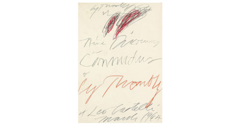<i>Nine Discourses on Commodus</i>, 1999, by Cy Twombly, offered by Michael Dawkins Home