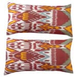 Hollywood Regency–style Ikat Pillows, 20th century