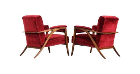 Italian armchairs, 1950s, offered by MORENTZ