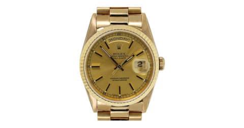 Rolex yellow-gold Presidential automatic wristwatch, ca. 2000, Raymond Lee Jewelers