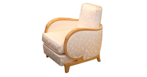 Rene Prou Single Art Deco Club Chair, offered by Calderwood Gallery