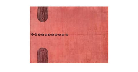 Large Rug by Ivan da Silva Bruhns, circa 1930, offered by Galerie Marcilhac