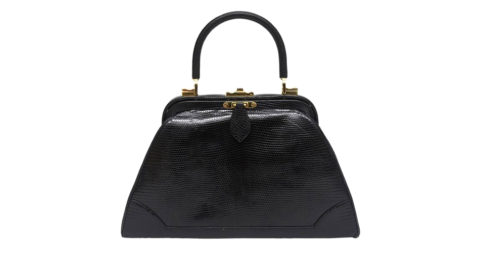 Black lizard Kelly bag, 1960s, offered by Vermillion