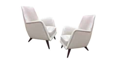 Armchairs in the style of Giò Ponti, 1950s, offered by Galerie Andre Hayat