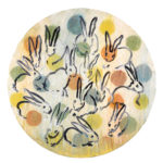 Bunnies in the Round, 2015, by Hunt Slonem