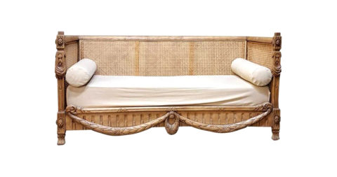 Louis XVI–style sofa, 1880s, offered by Inessa Stewart's Antiques & Interiors