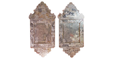 Venetian mirrors, 18th century, offered by C. Mariani Antiques