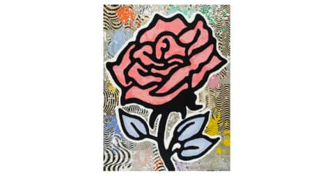 <i>The Red Rose</i>, 2015, by Donald Baechler, offered by Michael Lisi