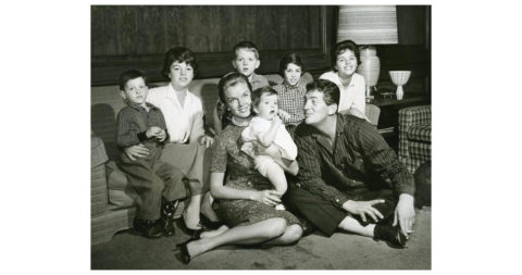 Dean Martin at home with his family, date unknown, anonymous, offered by Capital Art